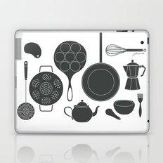 Kitchen Tools (black on white) Laptop & iPad Skin