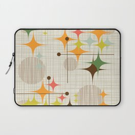 Mid Century Modern Starbursts and Globes 3a Laptop Sleeve