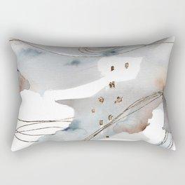 Gold Celestial Strings Rectangular Pillow