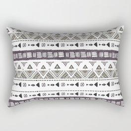 Native American Ornaments Watercolor Pattern Brown Rectangular Pillow