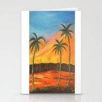 desert Stationery Cards featuring Desert by ArtSchool
