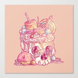 Skull No.3 // The Yummy One Canvas Print