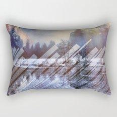Winter Sun Rays Abstract Nature Rectangular Pillow