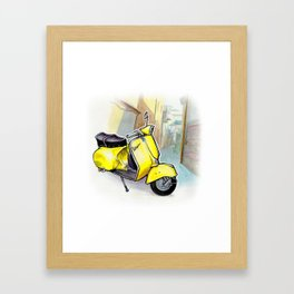 Giallo Vespa (Motocicletalia) Framed Art Print