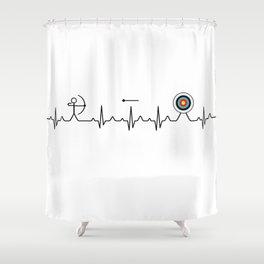 Archery heartbeat Shower Curtain