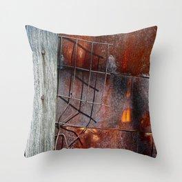 Broken Through Throw Pillow