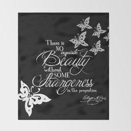 Strange Skullerflies - EA Poe Quote Throw Blanket