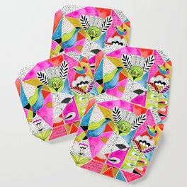 Tulips and Triangles Coaster