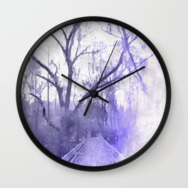 Icy Cypresses Wall Clock