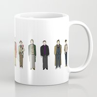 dr who Mugs featuring Dr Who by Michael Constantine
