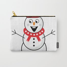 Christmas snowman #society6 #decor #buyart #artprint Carry-All Pouch