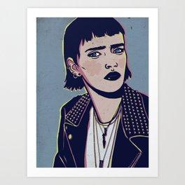 Rock Betty Art Print