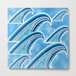 Wave of Blue Metal Print