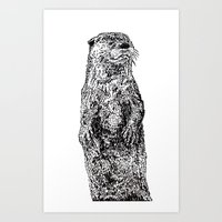 otter Art Prints featuring Otter by Meredith Mackworth-Praed
