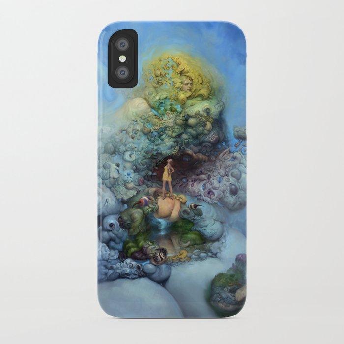 BLUE GOLD FANTASIA iPhone Case