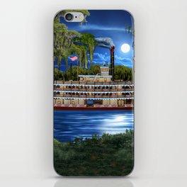 Mystcal Moonlight Cruise Down the Bayou iPhone Skin