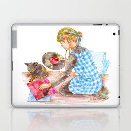 A girl with a kitten vol.2 Laptop & iPad Skin