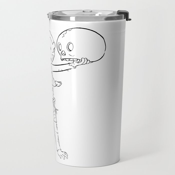 Monkey Pirate - ink Travel Mug