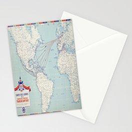 Plakat carte des lignes de la compagnie Stationery Cards