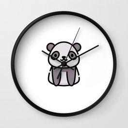 Just a Cute Panda Wall Clock