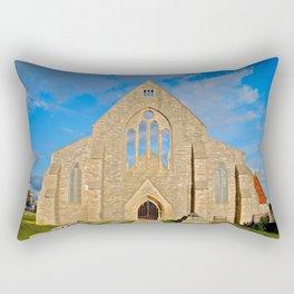 Church with no roof Rectangular Pillow