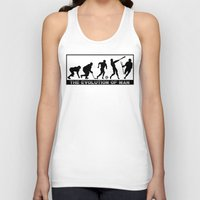 lacrosse Tank Tops featuring Lacrosse Evolution Of Man by YouGotThat.com