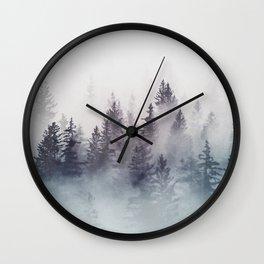Winter Wonderland - Stormy weather Wall Clock