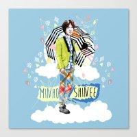 shinee Canvas Prints featuring SHINEE MINHO by Haneul Home