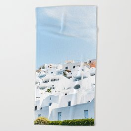 Lost in Santorini Greece Beach Towel