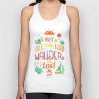baloon Tank Tops featuring Not All Those Who Wander ii by becca cahan