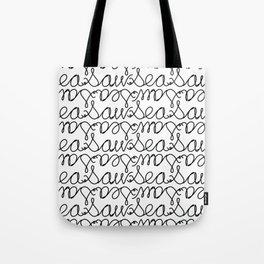 Sea Saw Pattern Tote Bag