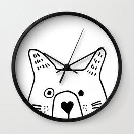 Baby Bear, kids room and nursery deco Wall Clock