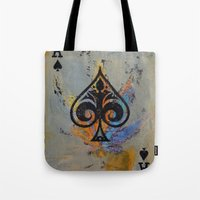 ace Tote Bags featuring Ace by Michael Creese
