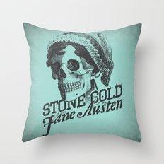 Stone Cold Jane Austin Throw Pillow