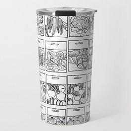 Veggie Seeds Patten - Line Art Travel Mug