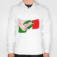 italy Hoodies featuring Rugby Italy by mailboxdisco