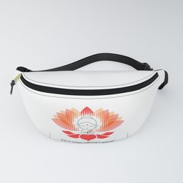 Buddha saying Namaste while sitting on a sacred lotus. Fanny Pack
