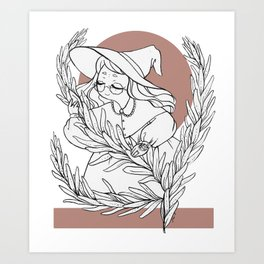 Rosemary Witch Art Print