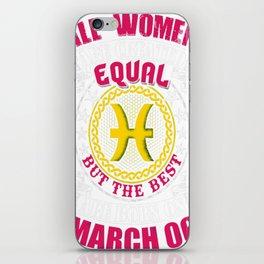 Best-Women-Born-On-March-06-Pisces---Sao-chép iPhone Skin