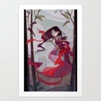 mulan Art Prints featuring Mulan by Ann Marcellino