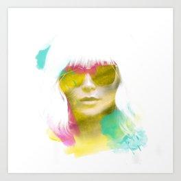 Atomic Blonde Water Color Art Print