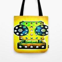dj Tote Bags featuring DJ by Yukska