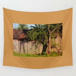 Abandoned old wooden shack Wall Tapestry
