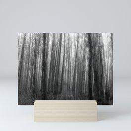 Creepy trees, black and white Mini Art Print