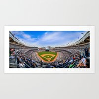 yankees Art Prints featuring New York Yankees - Color by Bust it Away Photography