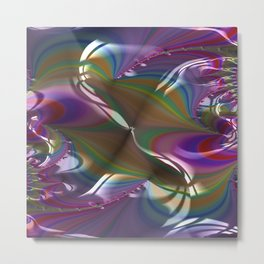 Engraved Flagship Fractal - Abstract Art Metal Print
