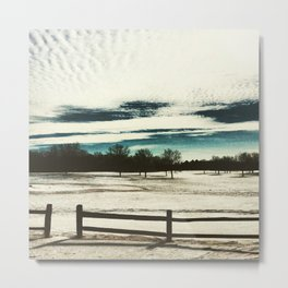 Field of Winter Metal Print