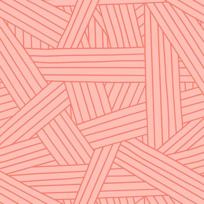 Crossing Lines in Coral Pink Leggings