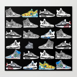 Seek the Sneakers Canvas Print
