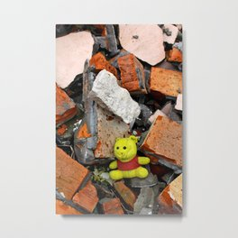 Forgotten Teddy Metal Print